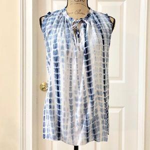 Just Living sleeveless tie dye blouse